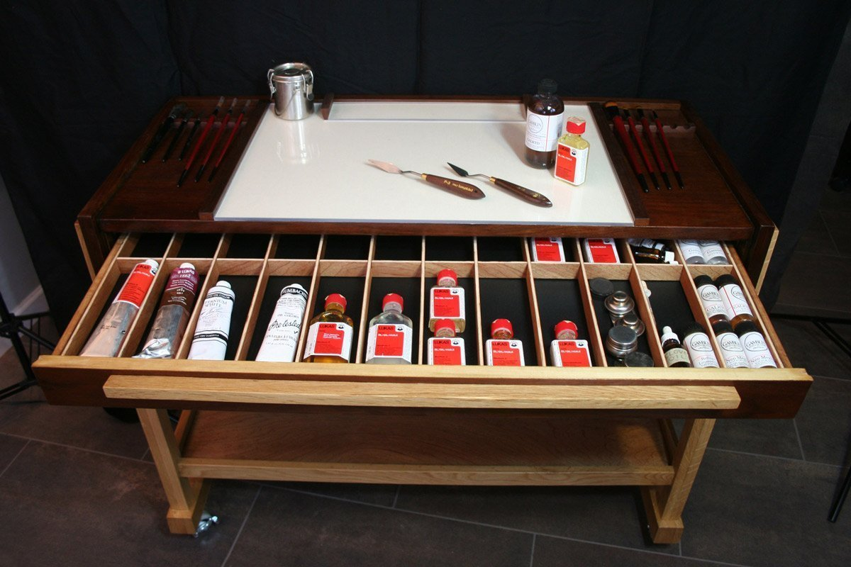 Taboret Supplies Drawer