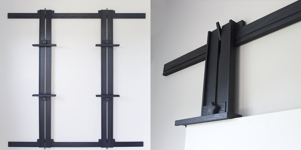 Ebonized Oak Finish for Wall Easels