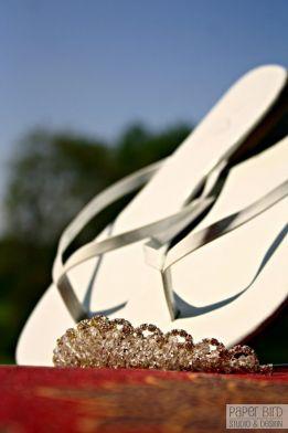 Tiara and sandals