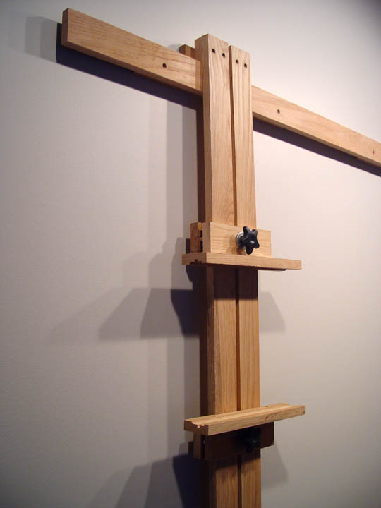 Close Up Of Wall Easel Mast