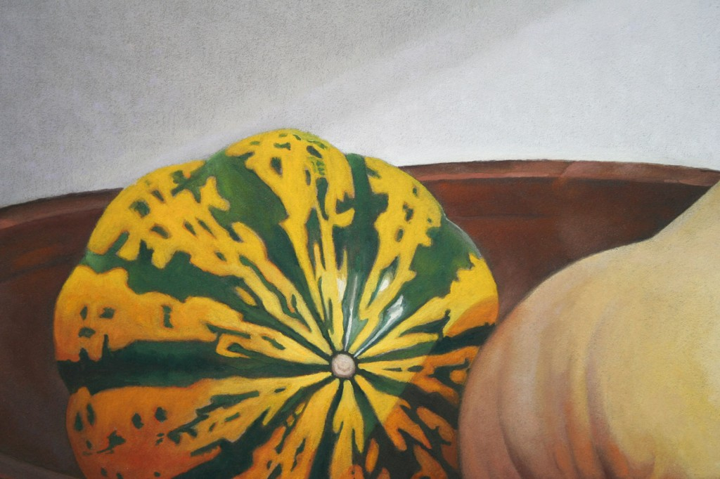 Still Life - Squash in Wooden Bowl