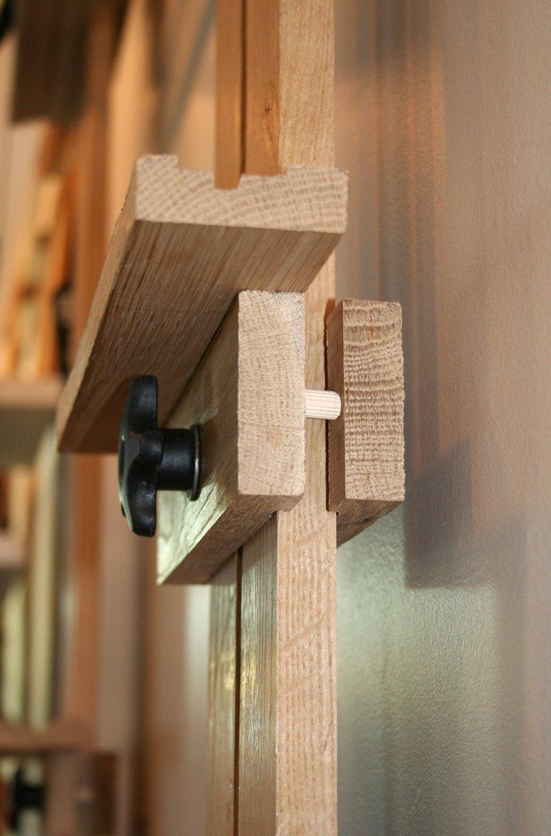 Wall Easel on Ebonized Oak