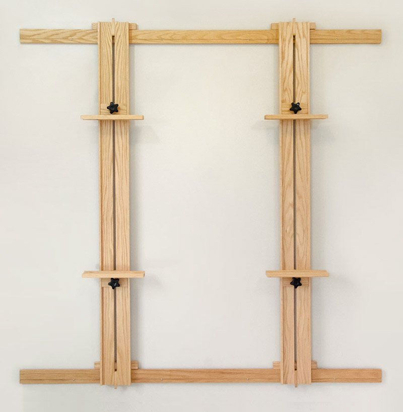66 X 66 Inch Wall Easel Model 166 Red Oak Paper Bird Studio And