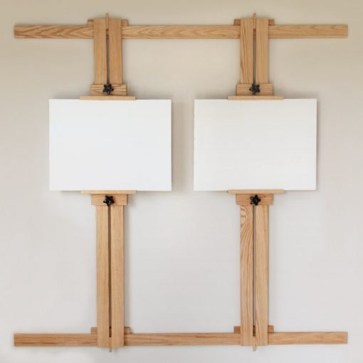 66 Inch Wall Easel with Two Canvases