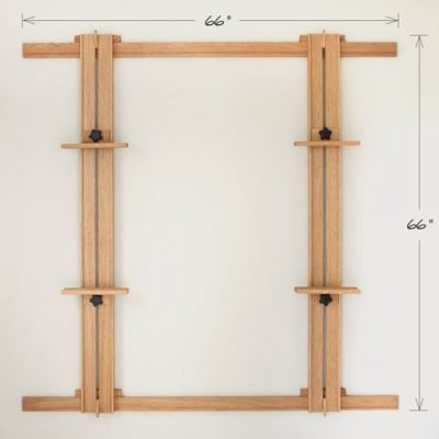 66 Inch Wall Easel - White Oak