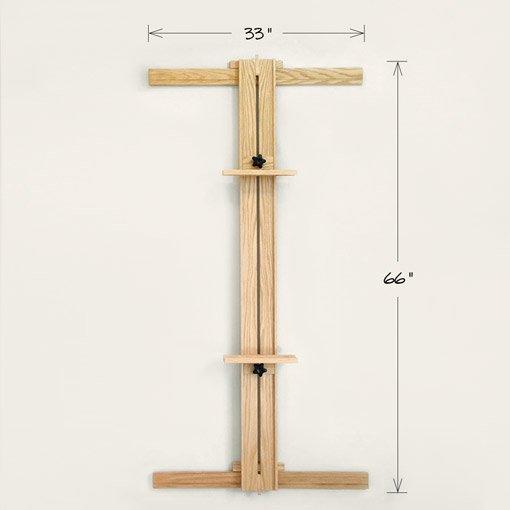 33x66 Wall Easel One Mast White Oak