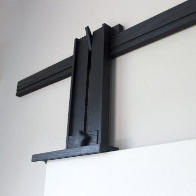 Ebonized Tueller Oak Wall Easel - Standard Canvas Holder
