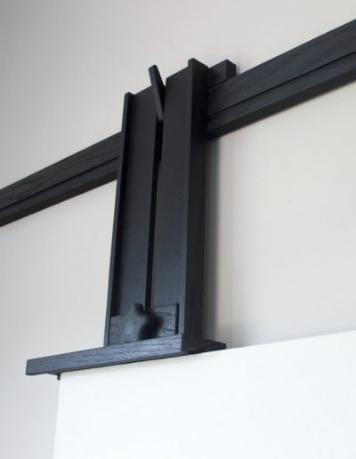 Ebonized Tueller Oak Wall Easel - Standard Canvas Holder