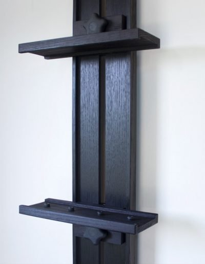 DEbonized Tueller Oak Wall Easel - eep Canvas Holders