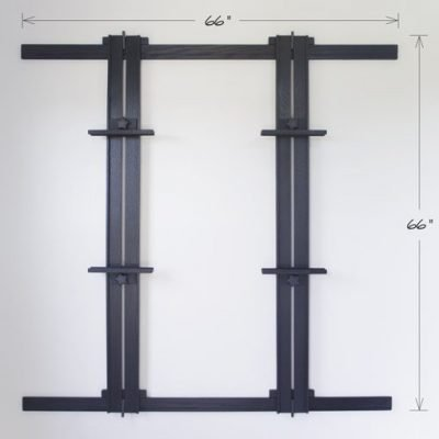 66 Inch Wall Easel - Ebonized Oak
