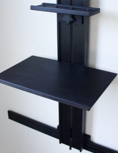 Ebonized Tueller Oak Wall Easel - Work Tray