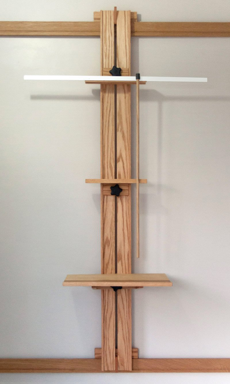 Tueller Wall Easel with hanging mahl stick attachment