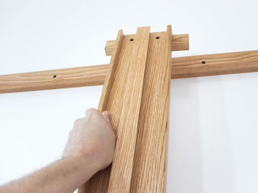 Tueller Wall Easels - Hanging Mast Over Upper Rail