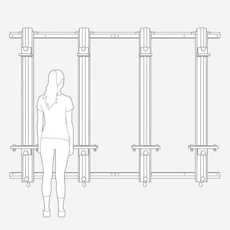 Custom 96 x 68 x 4 Mast Wall Easel
