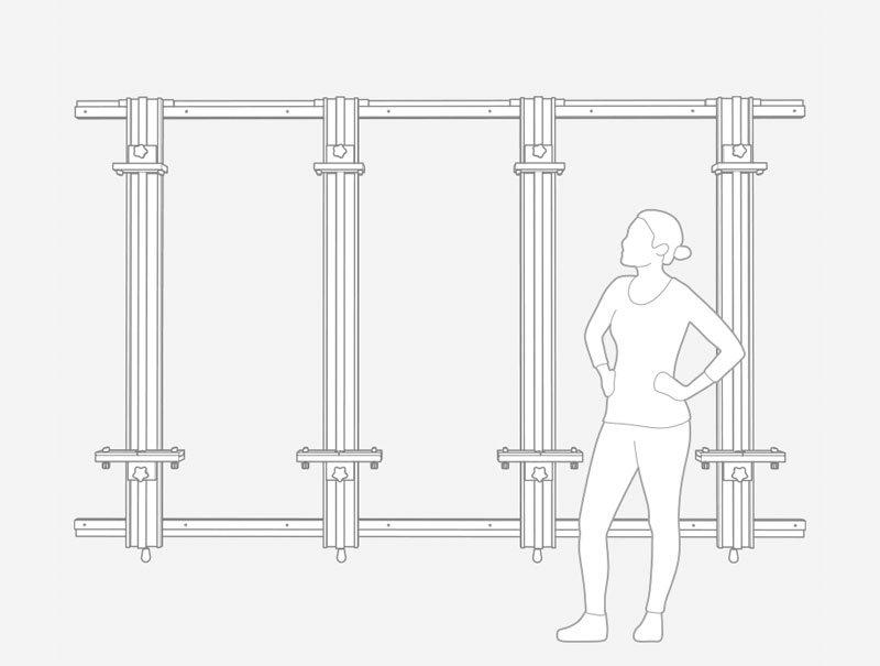 Custom 108 x 66 x 4 Mast Wall Easel